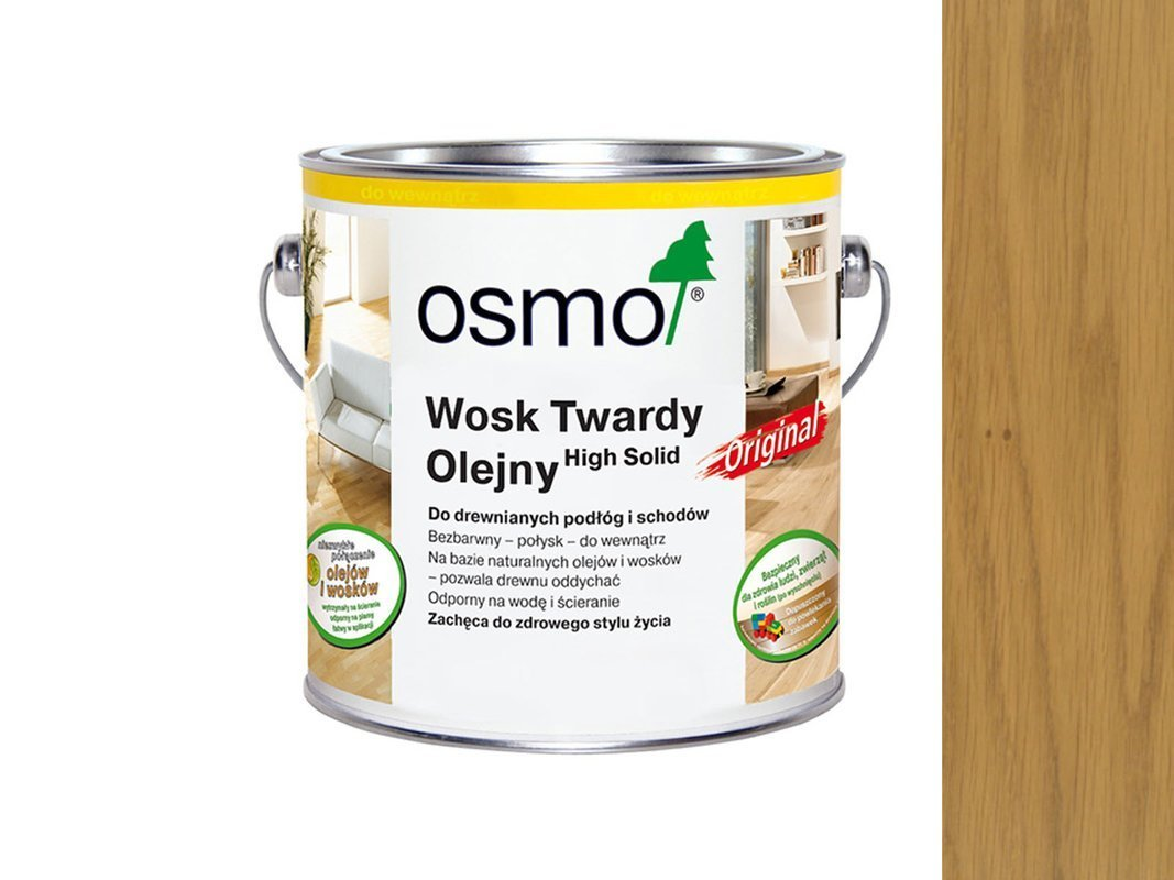 OSMO 3065 wosk twardy olej 0,125L BEZBARWNY PÓŁMAT