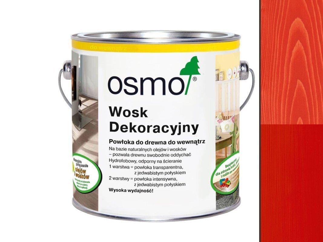 OSMO 3104 wosk dekoracyjny OGNISTY CZERWONY 125ml