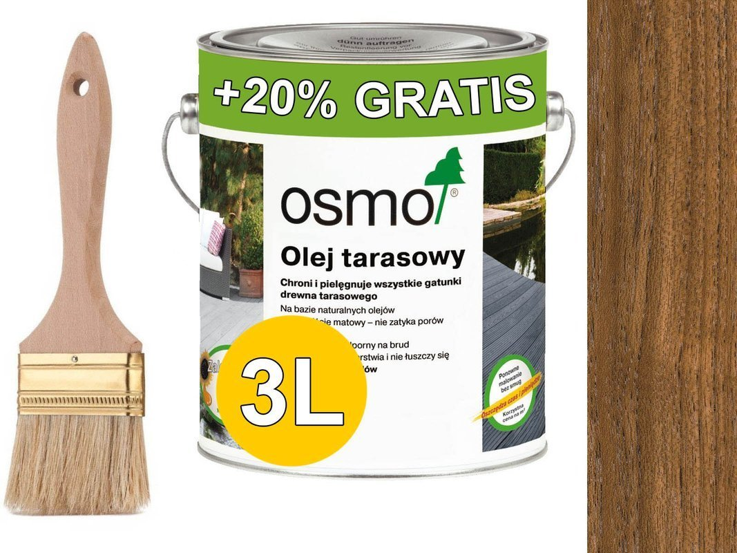 OSMO Olej do Tarasów 007 TEAK - - - - - - - -  3L